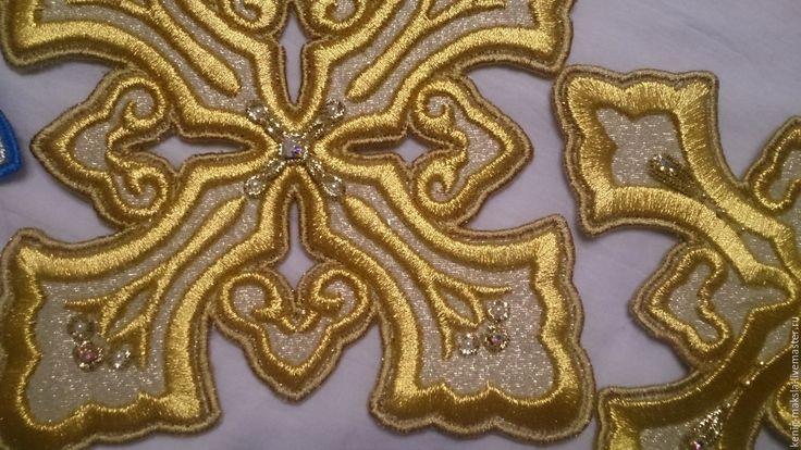 Купить Комплект вышивка для Церковных облачений - золотой, серебряный, вышивка золотом, золотное шитьё