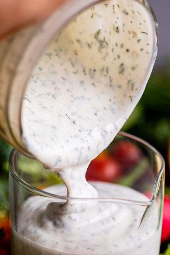 Creamy Buttermilk Ranch Dressing From The Food Charlatan The Only Thing Better Than Restaurant Style In 2020 Buttermilk Ranch Dressing Food Charlatan Buttermilk Ranch