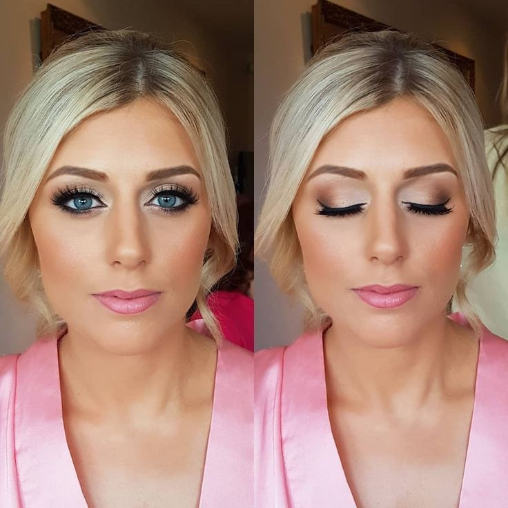 Gorgeous soft smokes and luscious lashes for this bridesmaid . . #makeup #brides…