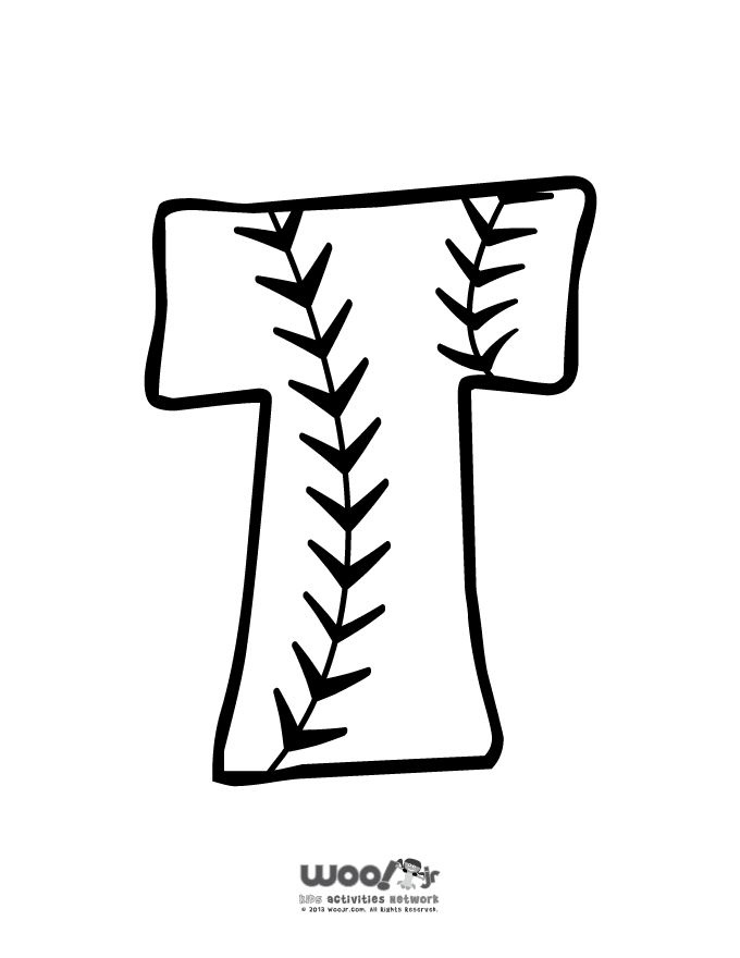 baseball alphabet letter t beginning of school year organize