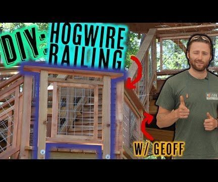 Want to add a bit of flair to your deck/patio? Learn how to make these hog wire panels for your next railing. Nelson Treehouse & Supply has used these railings on treehouses across America. Now we want to teach you how!