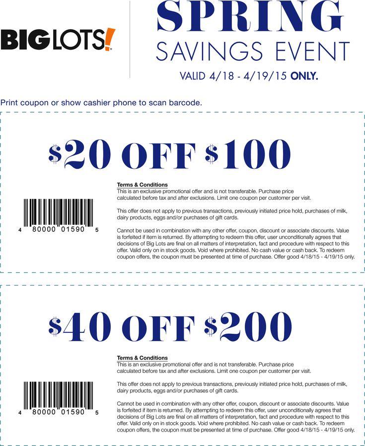 Biglots coupon code