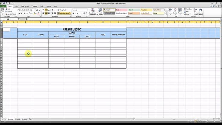 Excel Iniciacion Curso 1 Primeros Pasos Como hacer un persupuesto? en HD...