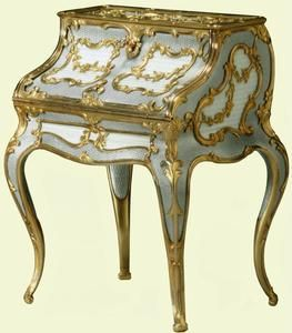 Miniature Desk 1896 1908, Carl Fabergé. Acquired By Queen Elizabeth The  Queen Mother