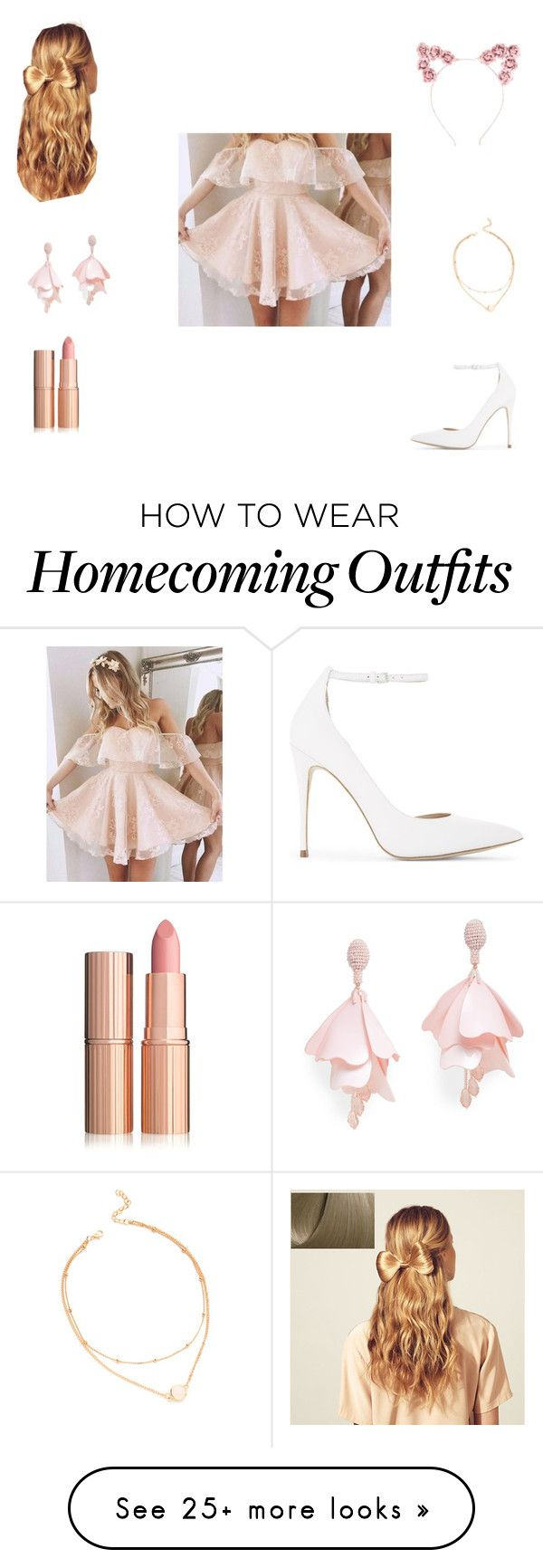 """Homecoming/prom outfit❤️"" by kelma1789 on Polyvore featuring Hershesons, Hot Topic, Oscar de la Renta Pink Label and ALDO"