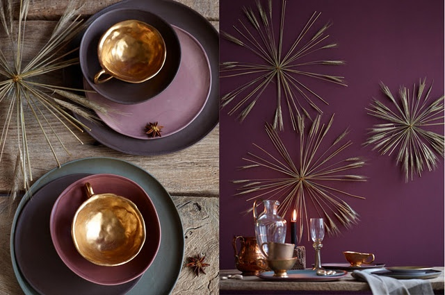 This colour combination is beautiful.  - I love the darker tones, and I think the more rustic and industrial looks work so well at Christmas on the christmas table