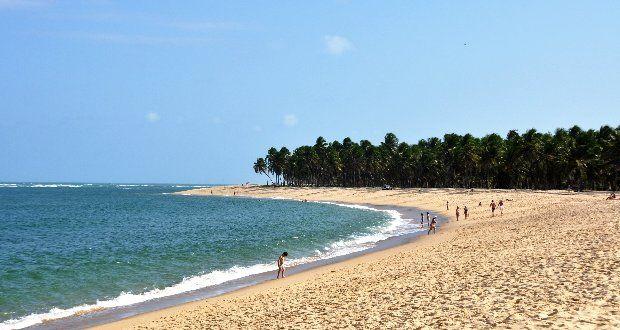 Praia do Gunga - Alagoas Considerada uma das praias mais bonitas do Brasil!