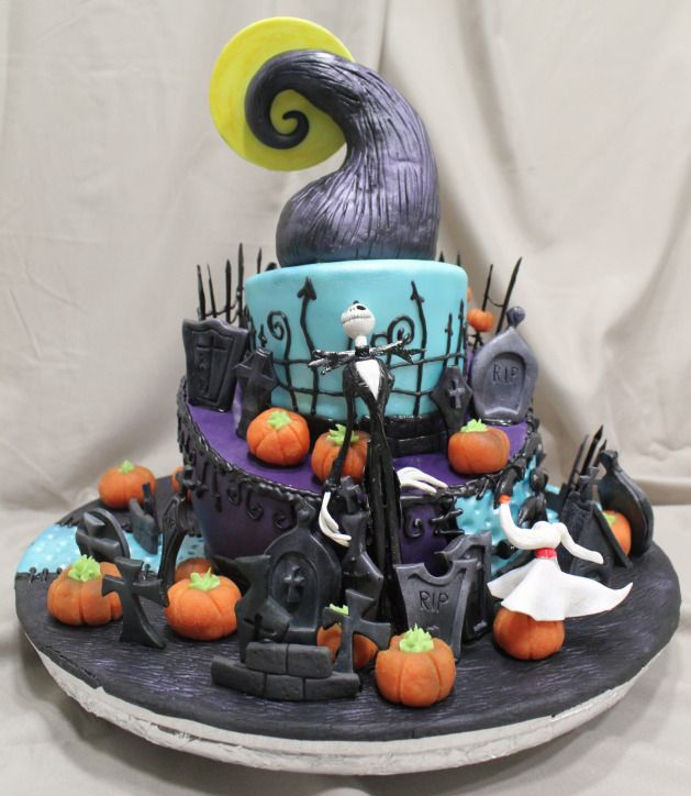 Tarta Pesadilla antes de Navidad -  Nightmare before Christmas Cake:Tartas Decoradas en Madrid Síguenos en facebook: http://on.fb.me/MEghZr