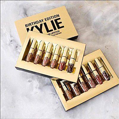 2016 Kylie Jenner Limited Birthday Edition Kylie Matte liquid Lipstick 6pcs mini gold kylie lip kit