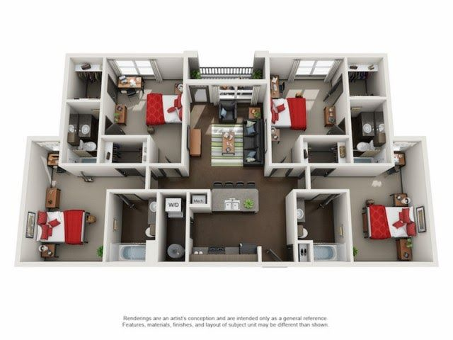 4 Bedroom 4 Bathroom D1 University Edge Floor Plans 4 Bedroom Apartment Floor Plans Google অন Floor Plan 4 Bedroom Apartment Floor Plans 4 Bedroom Apartments