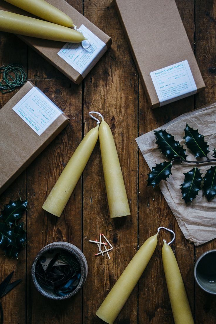 slow winter rituals on Geoffrey & Grace - Beeswax candles TOAST