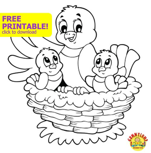FREE Kids Printable Coloring Page For Spring SpringGummyLump