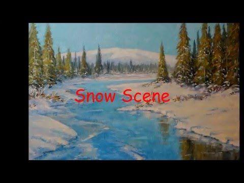 "SNOW SCENE ""Paesaggio innevato Canadese - Olio su tela 50x70 - ""Video Tu..."