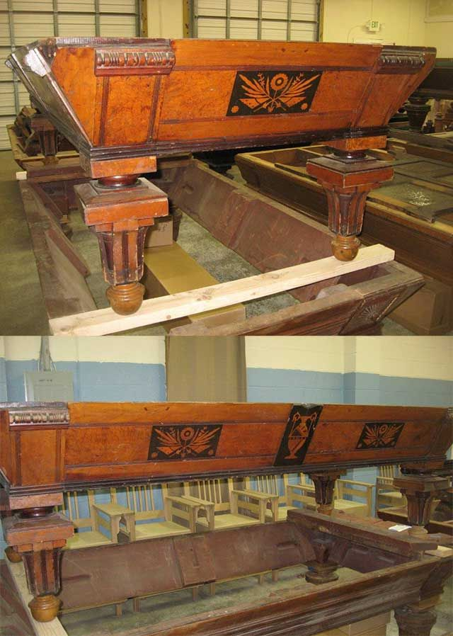 Classic Billiards - Antique Pool Tables & Antique Pool Table Parts - Table Display