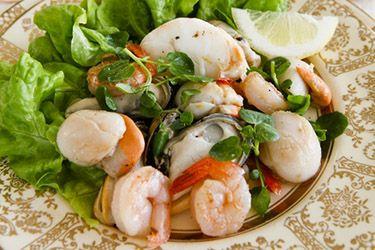 Christmas seafood salad