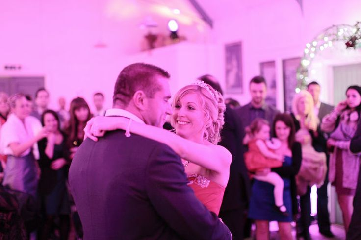 Happy couple having the first dance at Kent Life