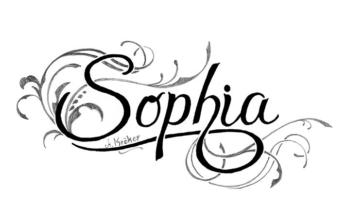 the name sophia | How To Draw the name Sophia with Pencil and Markers in Fancy Swirly ...