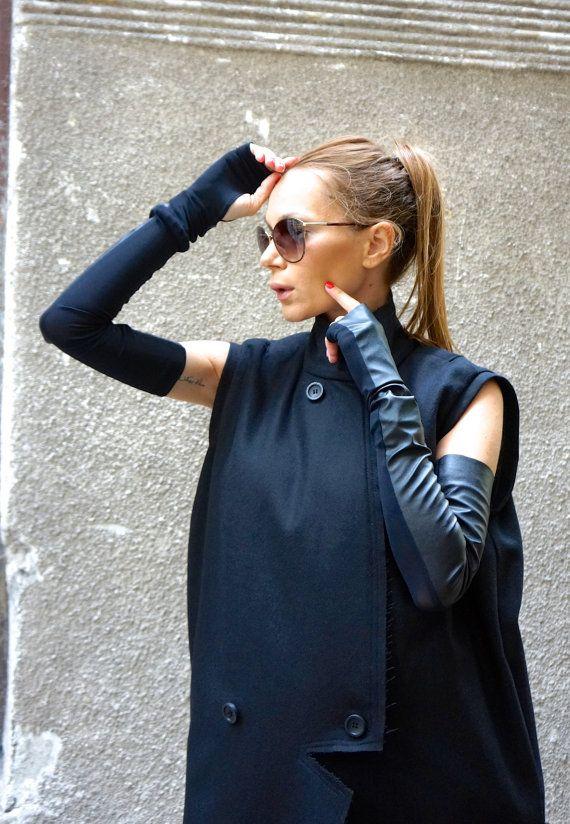 New Black Sexy Sleeveless Gloves / Extra Long от Aakasha на Etsy