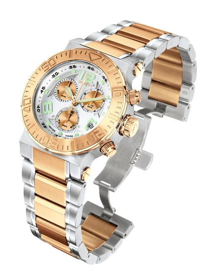 Men's Reserve Rose Gold & Stainless Steel Watch by Invicta Watches on Gilt.com