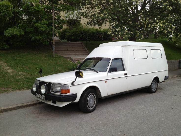 Old Volvo ambulance
