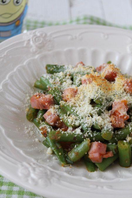 Judías verdes a la italiana ¡con jamón y queso! (pineado por @OrgulloWine)