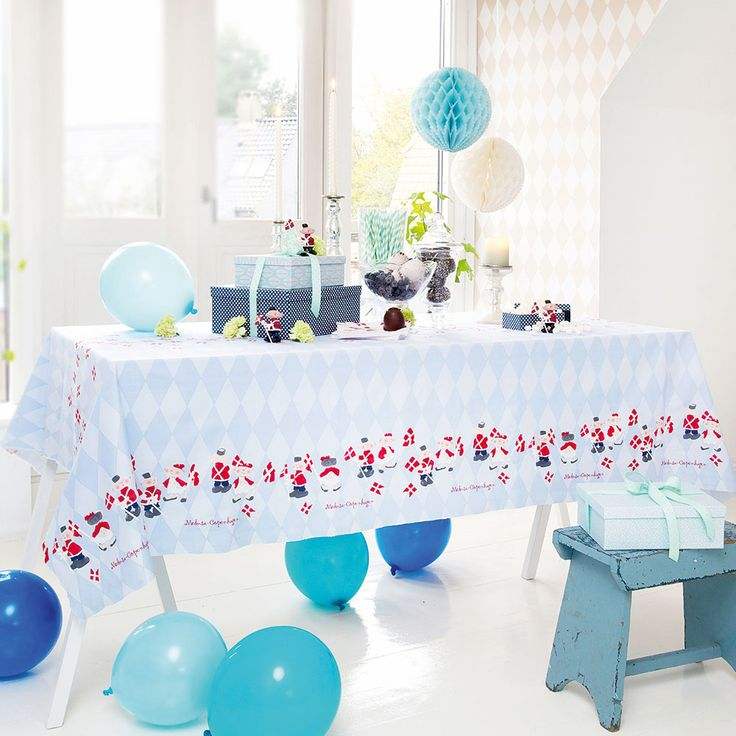 #medusacopenhagen #celebration #SS15 #birthday #boyheme #blue #brightblue #ballons #tablecloth #decoration #rikkitikki