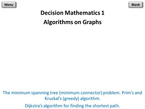 Decision Mathematics 1 PowerPoint