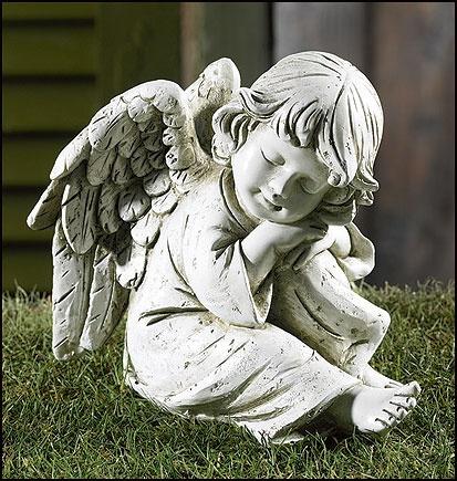 Prayerful Angel Garden Figurine