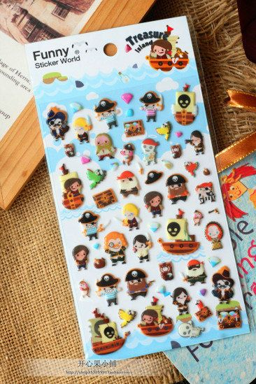 DIY Notebook Funny Pirate Bubble Photo Album Envelope Seal Decoration Scrapbook Paper PVC Sticker Vintage Stamp Diary Deco Set  //Price: $US $3.89 & FREE Shipping //     #crafting #scrapbooking #decor #decoration #diy #idea #inspiration