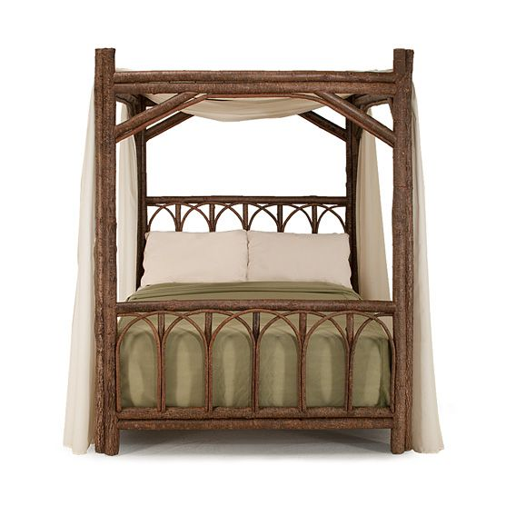 Rustic canopy beds by La Lune Collection are designer quality, hand-crafted furniture made in the USA.