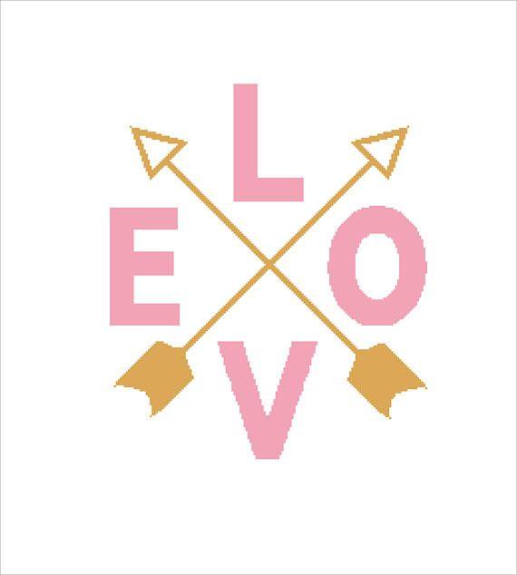 Buy 2 Get 1 Free-Love Cross Stitch Pattern-modern cross