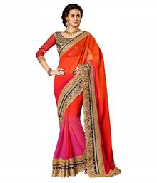 Royal Export Red Velvet Saree