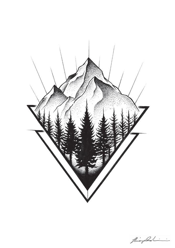 MOUNTAINS, 2016. #Tattoos #Drawing #Nature #Illustration # Idea –