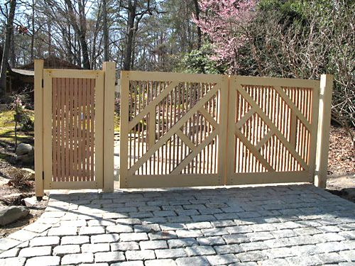 42 best images about driveways on pinterest entry gates for Japanese garden structures wood