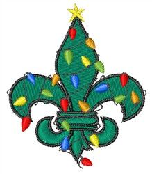 Embroidery Patterns Embroidery Design: Fleur De Lis Christmas 2.65 inches H x 2.31 inches W