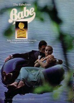 Babe   Faberge    1977 ad  featuring Margaux Hemingway