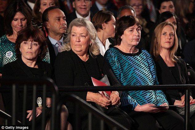 FRONT ROW SEATS: Kathleen Willey, Juanita Broaddrick and Kathy Shelton – all women with se...