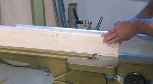 Cut taper on Jointer