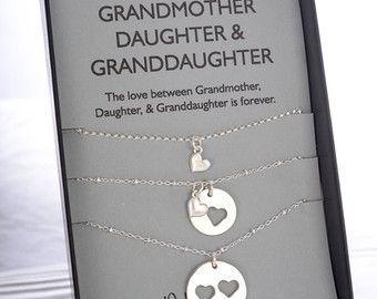Moeder dochter ketting sieraden Sets Birthday gift door erinpelicano