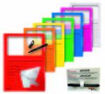 Farbige Sichthüllen - 10er-Set mit gratis Stift - Sicht-, Dokumentenhüllen aus PP-Kunststoff