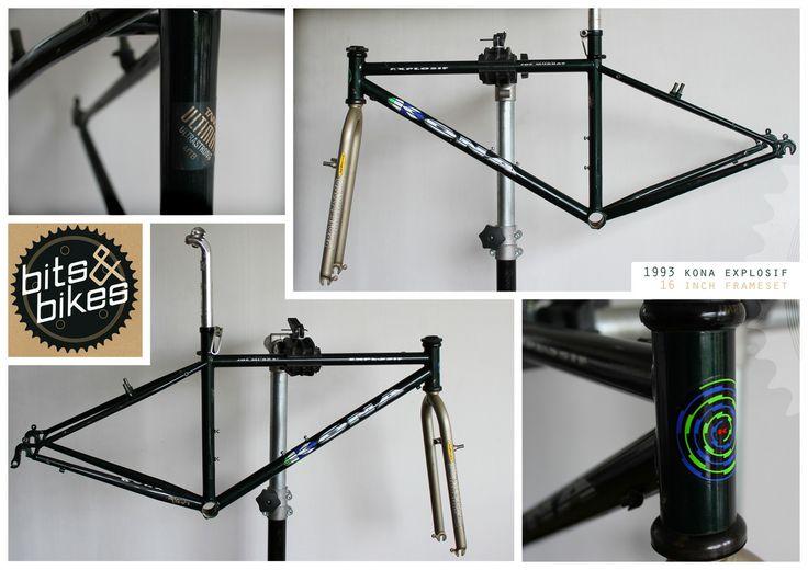 1993 Kona Explosif Frameset #forsale #kona #explosif #joemurray #racelight #projecttwo #tange #steel #mtb #mountainbike #bike #bicycle #cycling #retrobike #classicmountainbike #vintagemtb #bitsandbikes