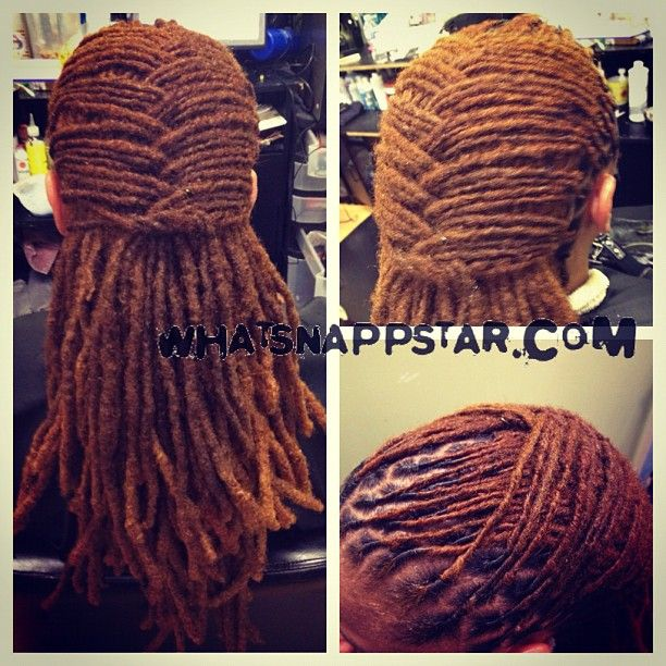 http://www.shorthaircutsforblackwomen.com/black-tea-rinse-for-hair/ Keep It Kinky: Natural Hair and Beauty: Unisex Locs Hairstyle & Lobster Tail/Basketweave Tutorial |  More and more men are wanting styles for their locs. Here is one style that can be worn by both women and men. This quick and easy locs hairstyle will keep your hair away from your face while still maintaining a neat and stylish appearance. You can even try it on braids too.