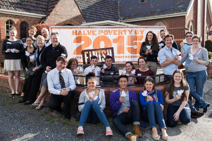 The youth of Doncaster Church of Christ are keen to Halve Poverty by 2015!