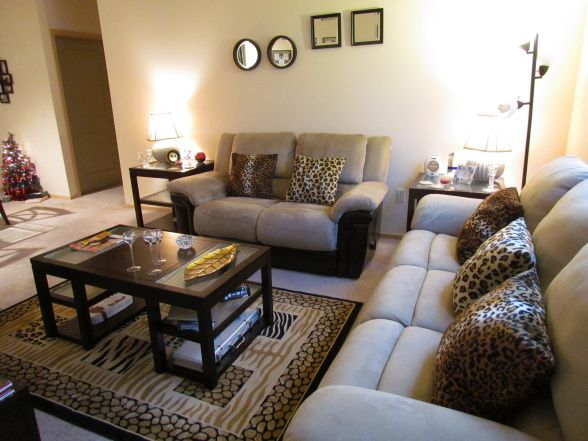 Leopard Print Room Designs | my animal print living room.... :), i looove animal prints, did my ...