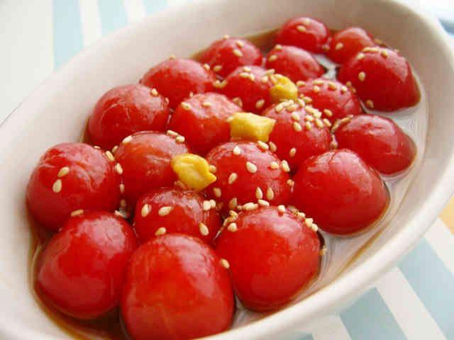 ヤマキのめんつゆで、プチトマトのマリネ☆の画像