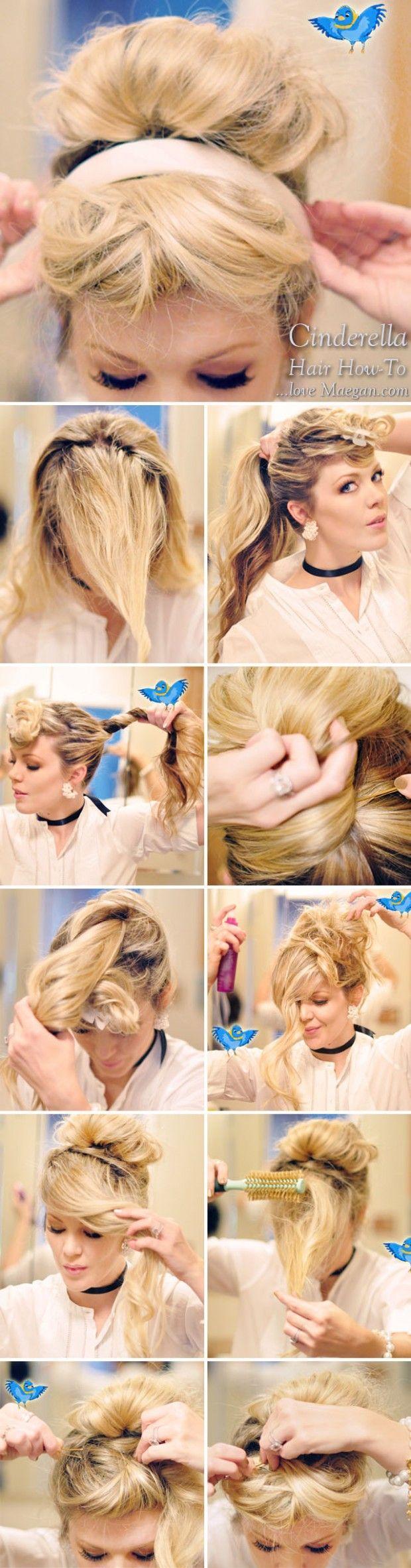 How-to Cinderella Hair & Makeup {Photo Tutorial}   ...love Maegan