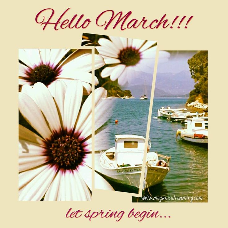 Welcome March! Welcome Spring!