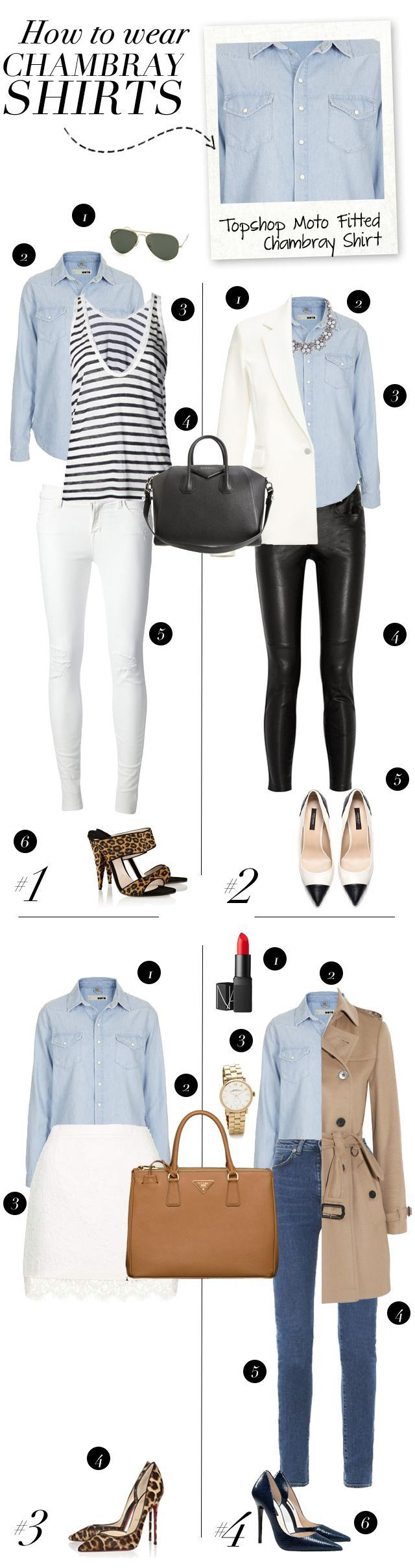 how to wear a dress shirt with jeans for women