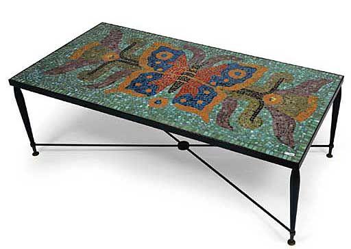 Mosaic Table designed by Juan O´Gorman (circa 1955)
