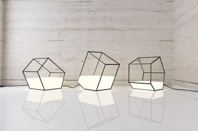 Polygonal Lamp - Nissa Kinjalina's polygonal lamp collection is contemporary and visually bold. Playing around with linear geometries, the design studio creat...